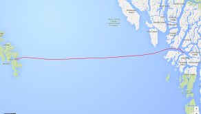 Our route across Hecate Strait