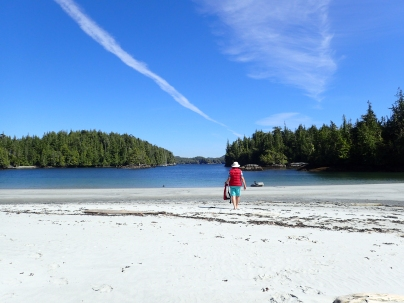 On the beach at Shelter bay